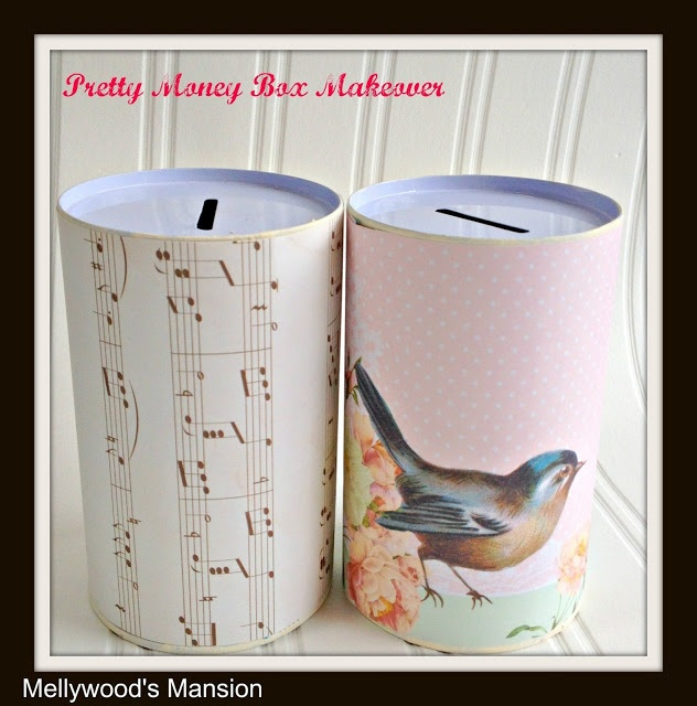 Pretty money box makeover quick fun craft and an awesome for Awesome money box