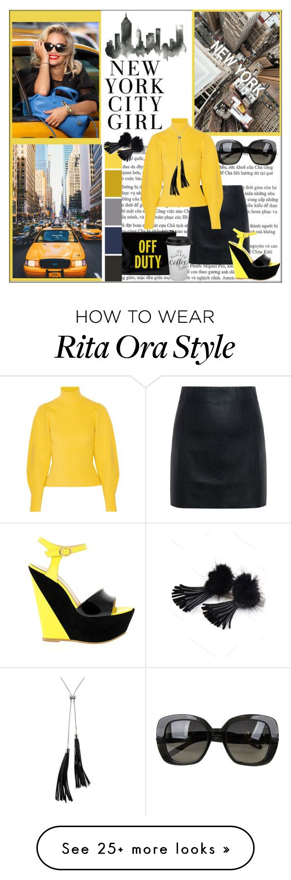 """""""City Landscape: New York"""" by pat912 on Polyvore featuring Kate Spade, DKNY, McQ by Alexander McQueen, Bottega Veneta, Thierry Mugler, White House Black Market and polyvoreeditorial"""