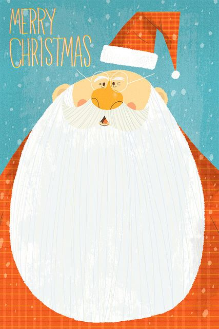 Jared Chapman christmas santa illustration - the thing is, we ARE making (or, rather, I'm designing) our own Christmas cards - we just need to decide what they're going to be like :)