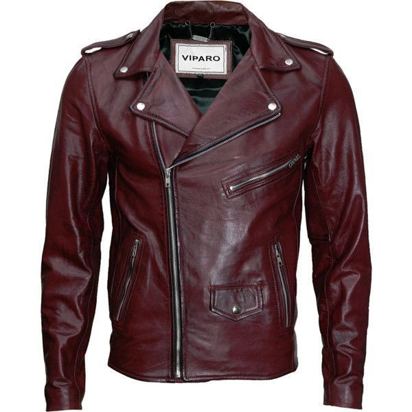 93ed4696acb Oxblood red mb1 leather jacket ( 319) ❤ liked on Polyvore featuring men s  fashion