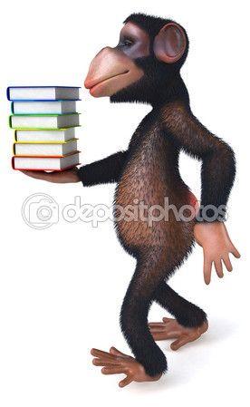 Mono de dibujos animados divertido — Imagen de stock #80531554