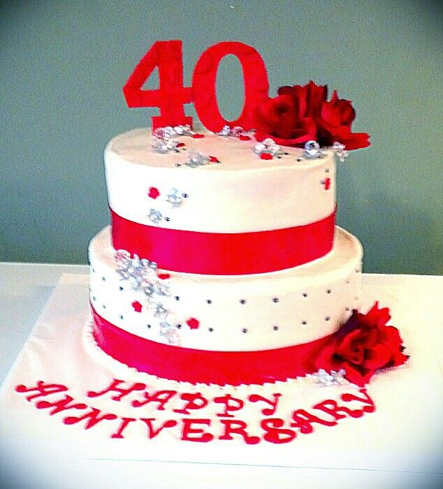 Cake Ideas For Parents Anniversary : Best 20+ 40th Anniversary Cakes ideas on Pinterest 40th ...