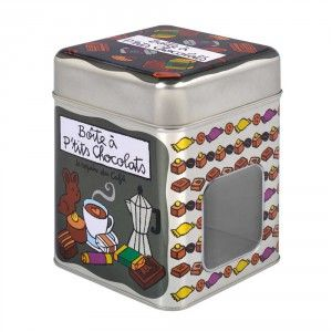 Smart and functional tin box for chocolate. Design by Valerie Nylin.
