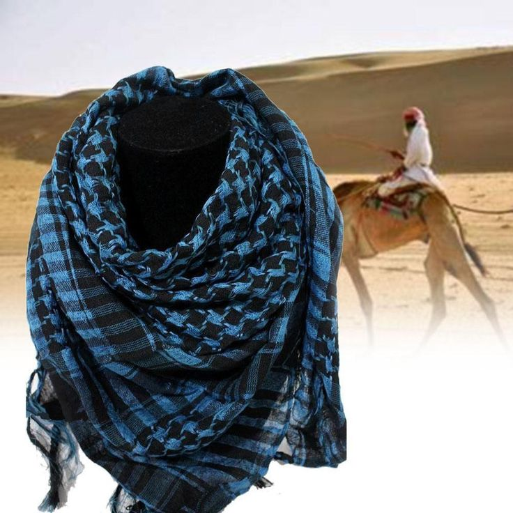 100% Cotton Thick Muslim Hijab Shemagh Tactical Desert Arabic Scarf Arab Scarves Men Winter Military Windproof Scarf - Best price in 10minus
