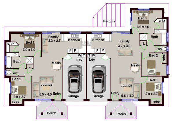 Stupendous 5 Bedroom Duplex House Plan 173Du Duplex House Plans In Beutiful Home Inspiration Xortanetmahrainfo
