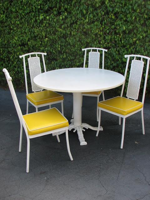 Vintage Chinoiserie Patio Set. Bamboo ChairsMetal ...
