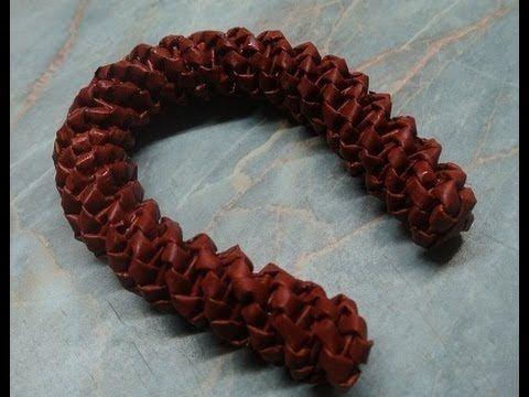 Pletení z papíru - podkova - návod