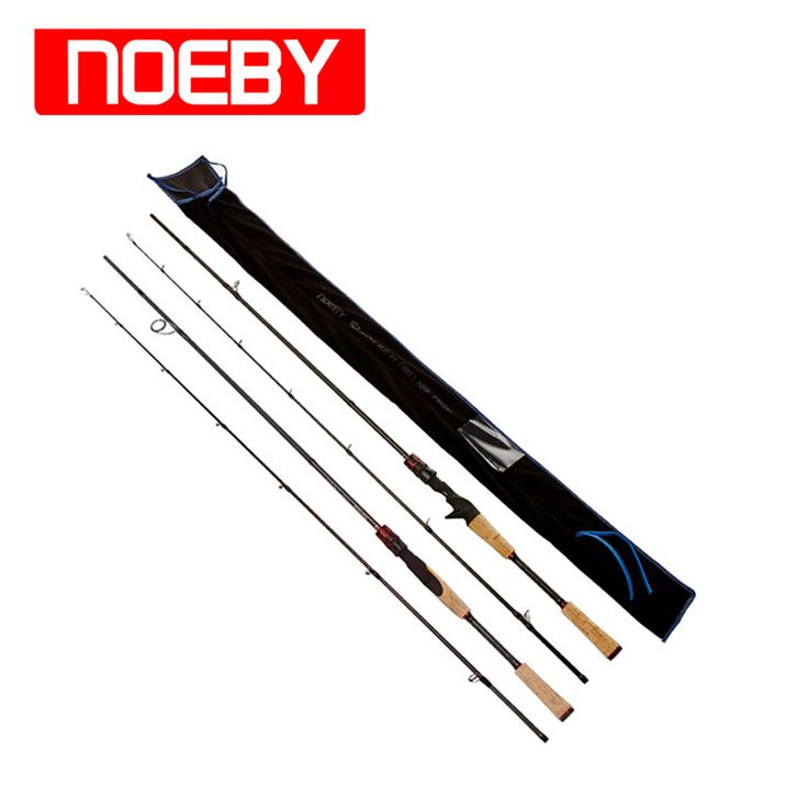 NOEBY Fishing Rods Carbon 1.98m 2section ML/M/MH Varas De Pesca Carp Fish Canne Peche Stand Pole Casting Spinning Rod Guide