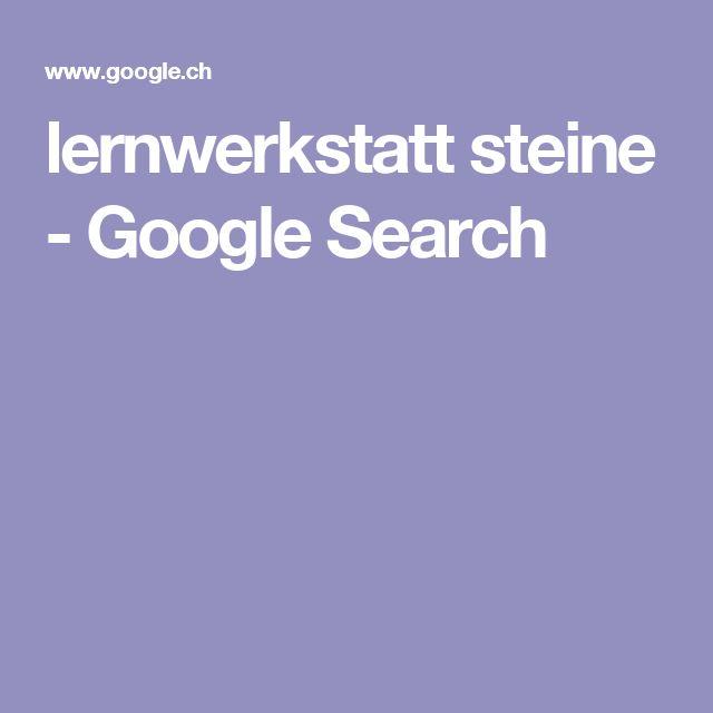 lernwerkstatt steine - Google Search