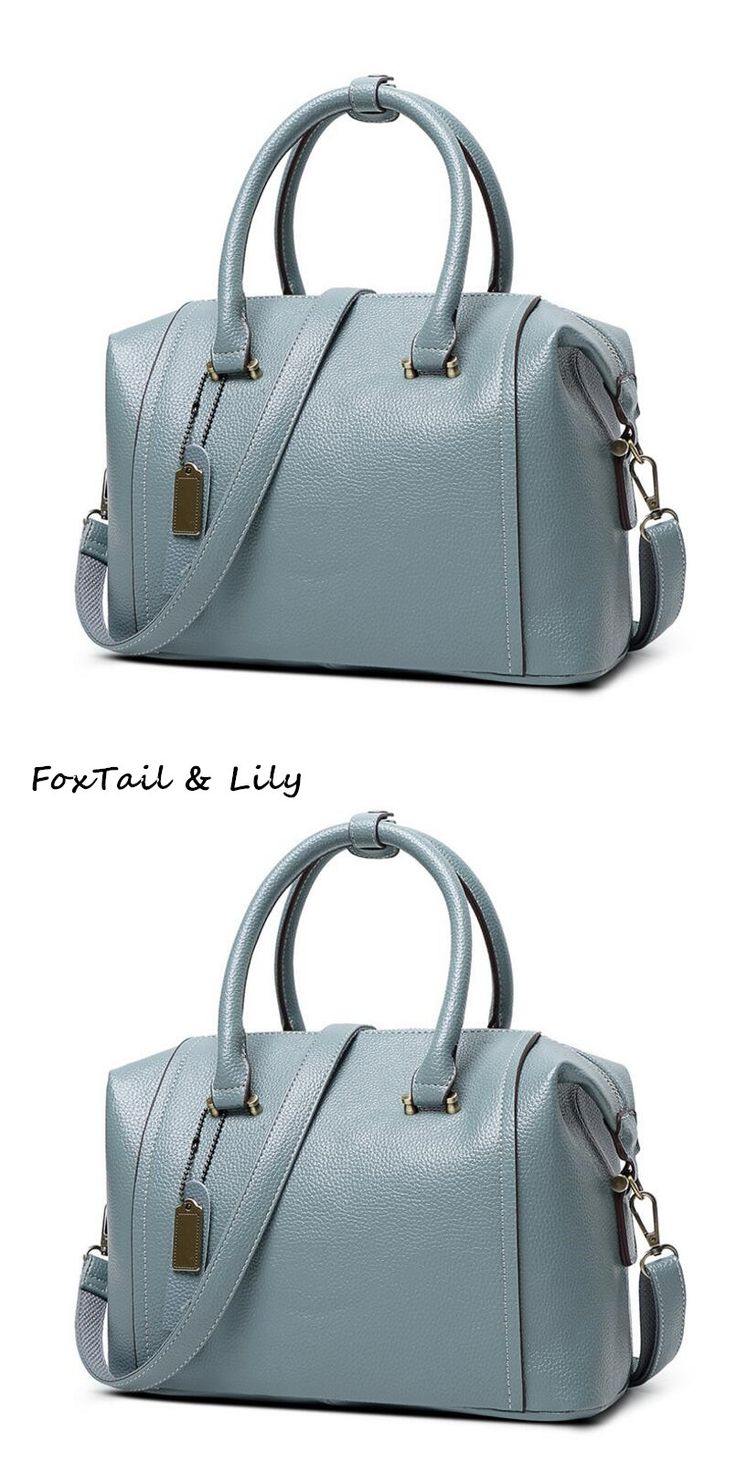 FoxTail & Lily 2017 Genuine Leather Boston Bag Luxury Handbags Women Bags Designer Brand Famous Female Shoulder Crossbody Bags