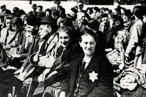 Round up of Jews in Amsterdam, The Netherlands.