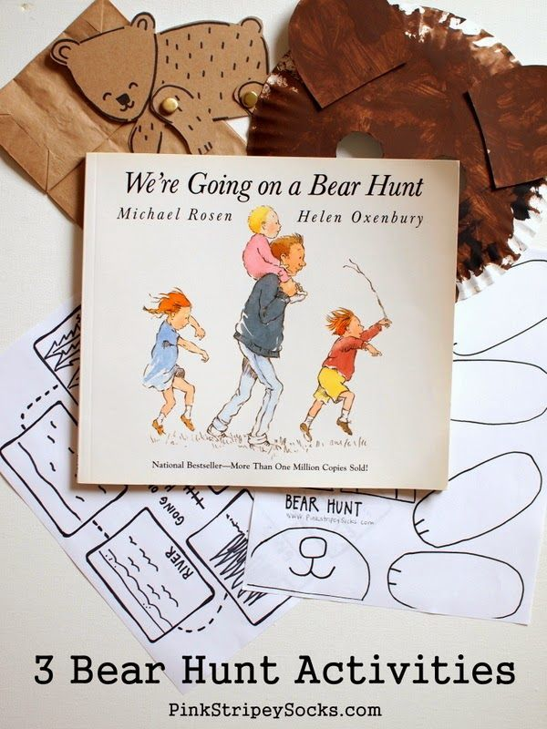 3 Crafts and Activities to do with Going on a Bear Hunt