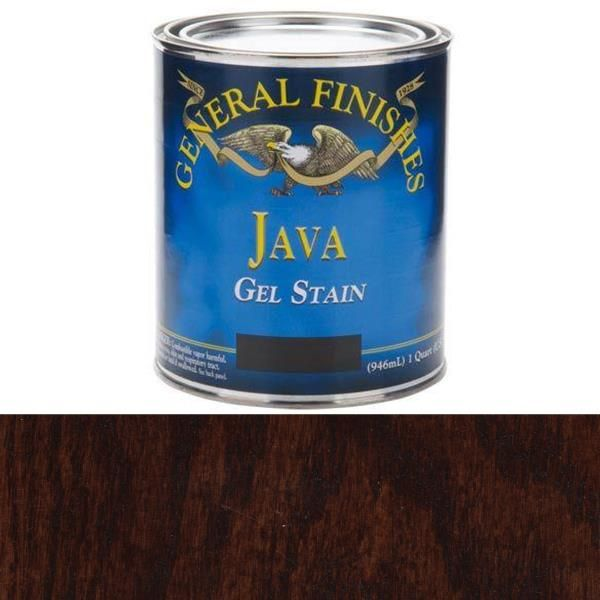 Buy General Finishes Java Gel Stain Quart At Woodcraft