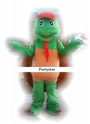 Schildpad met pet mascotte kostuum