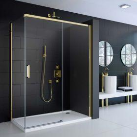 Cabine de douche coulissante Colors gold, 120 à 140 cm