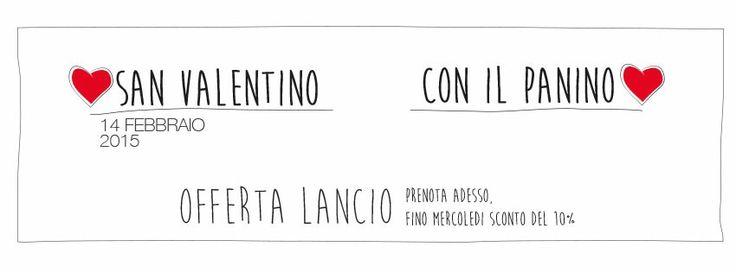 San Valentino scontato fino a mercoledì  www.ilpaninotondo.it