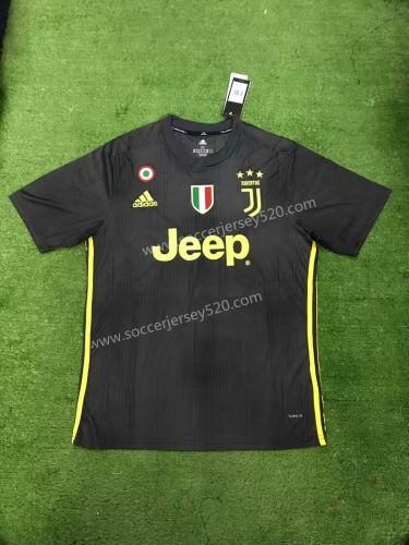 3baf1cf45 2018-19 Juventus 2nd Away Black With Italy Circle+Scudetto Version Thailand  Soccer Jersey AAA