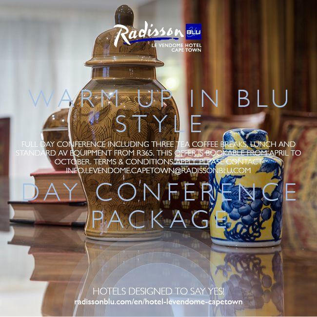 Radisson Blu Le Vendome Hotel, Cape Town – Winter Day Conference Offer