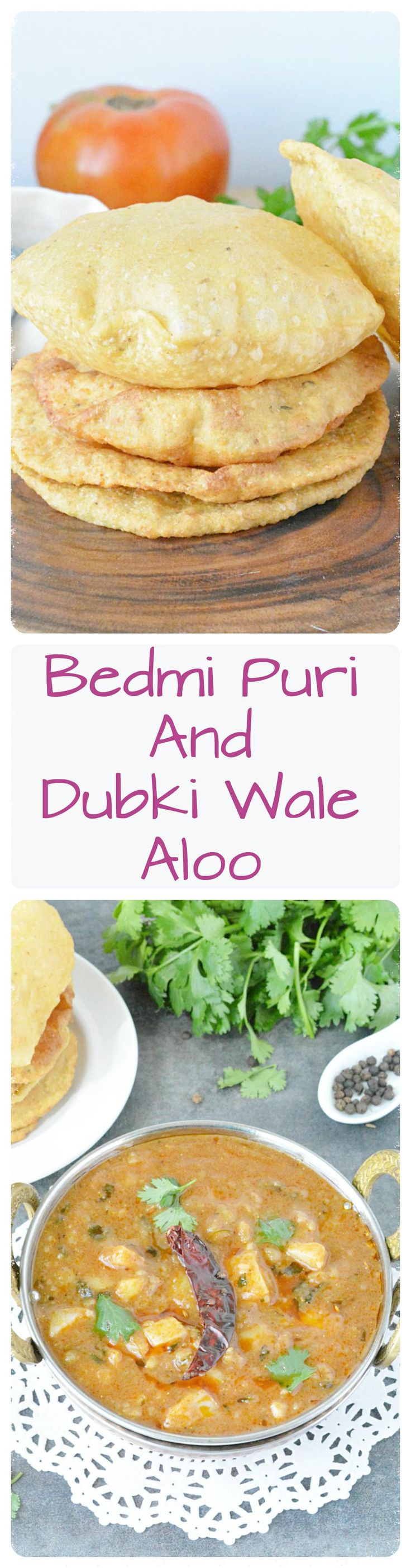 Grounded urad dal mixed with spices and wheat flour makes the famous bedmi poori reicpe. Bedmi poori with dubki wale aloo.