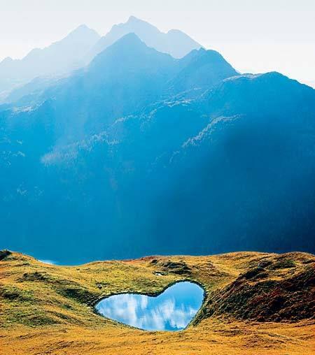 Heart-Shaped Lake –  Swiss Alps