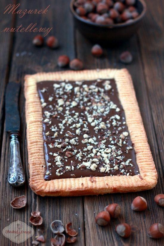 Mazurek nutellowy / Nutella shortbread recipe