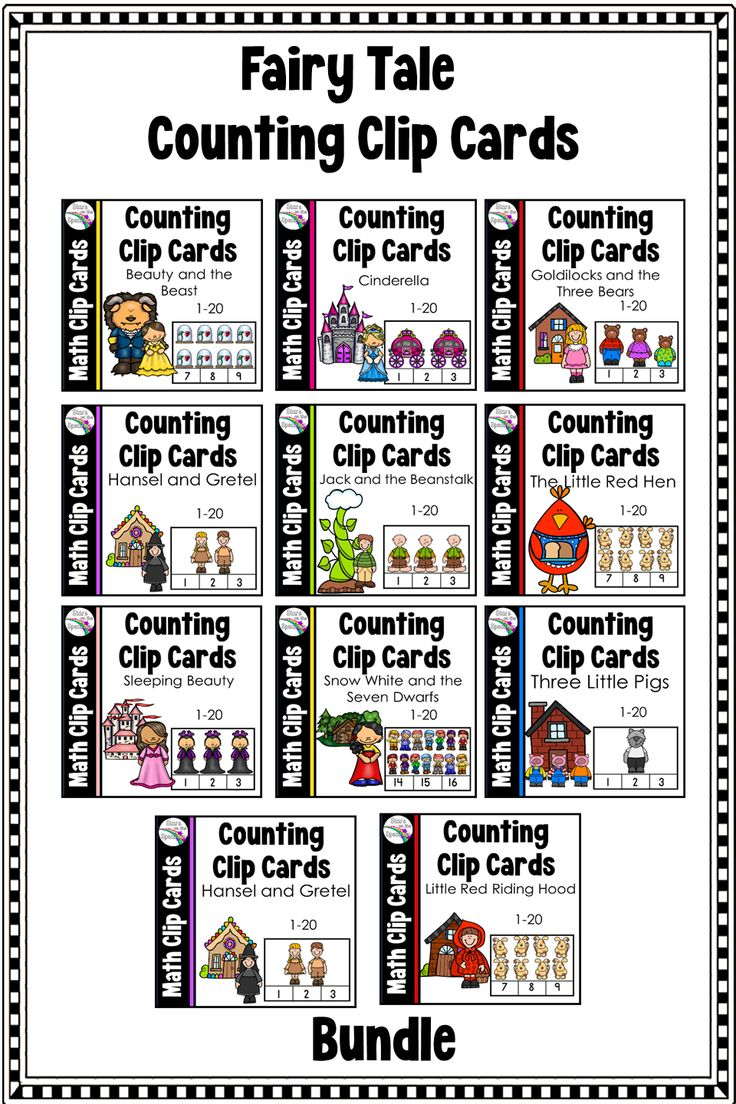 Fairy Tale Counting Clip Cards Bundle 1-20