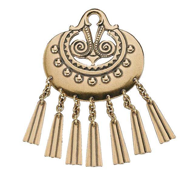 Kalevala Koru / Kalevala Jewelry / MOON GODDESS BROOCH  Designer: Germund Paaer, material: bronze or silver