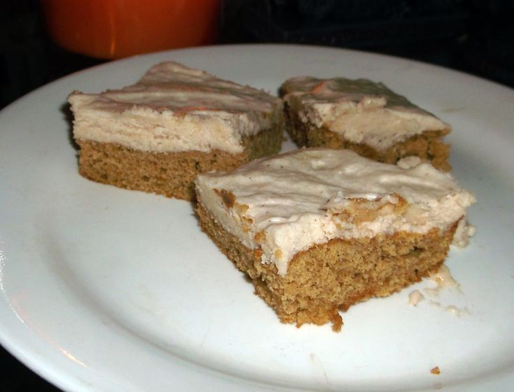 #glutenfreemama baker Jennife Harris made Mama's Pumpkin Cupcakes into bars and topped them with the Cinnamon Buttercream Frosting.  Yet another way to make that recipe!  To See the recipe click here: http://bit.ly/1ukhJBO