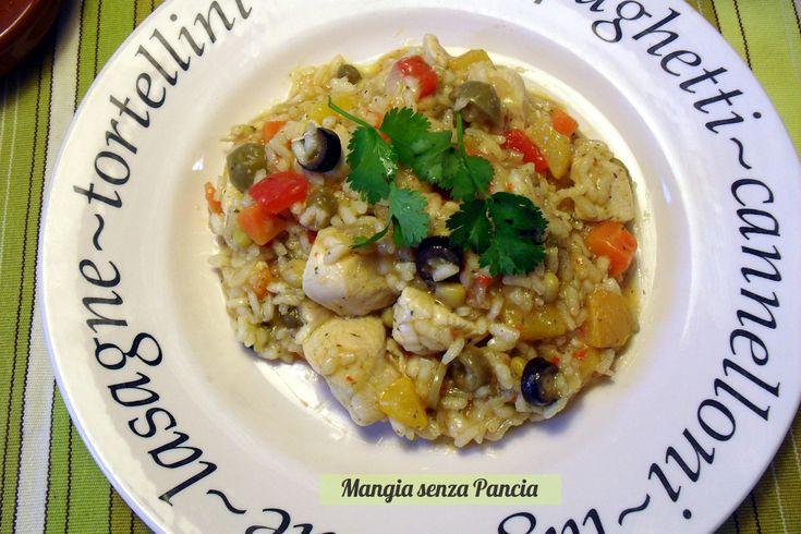 Arroz con pollo, ovvero riso con pollo, nella mia variante gustosa, equilibrata e light di questo tipico piatto sudamericano.