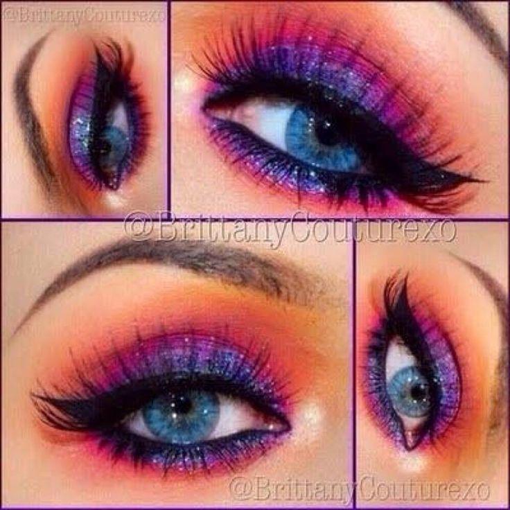 Catching Fire eye make-up