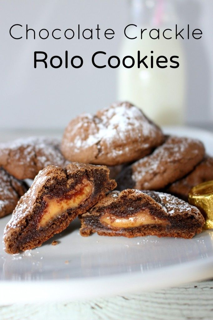Chocolate Crackle Rolo Cookies - delicious and easy to make...I think I've found the jackpot!