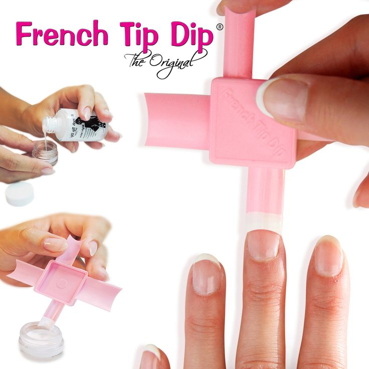 2 Pack: French Tip Dip French Manicure & Pedicure Supplies - French Tip Dip Instant French Manicure & pedicure Kits