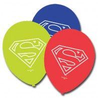 Superman Latex Balloons Pkt6 $4.95 A069995