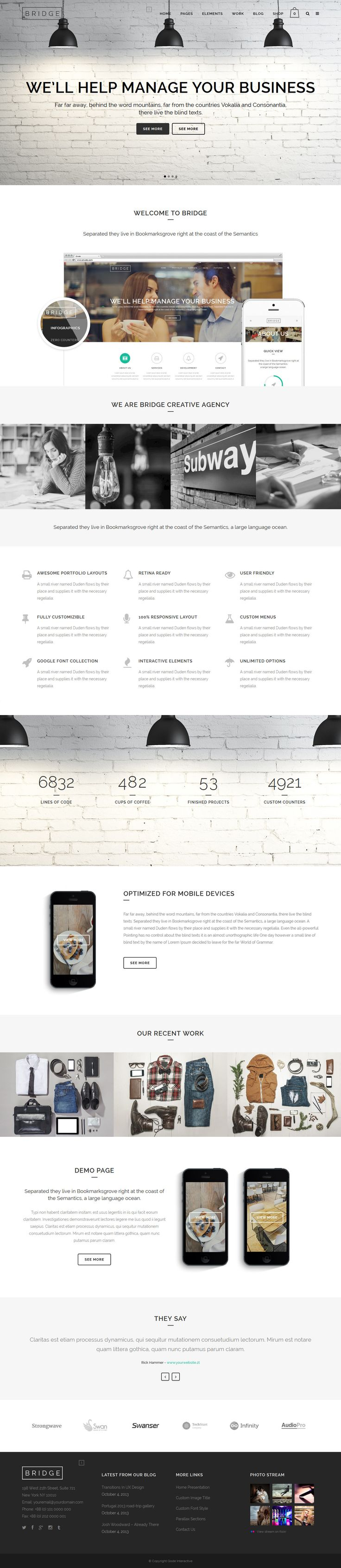 Bridge from ThemeForest - a cool wordpress theme.