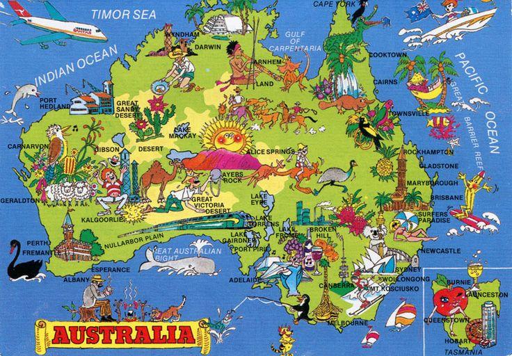 Mapas da Austrália. A Austrália é um país na Oceania. Nesta página você tem vários mapas da Austrália para perceber um pouco mais a sua geografia e poder assim organizar melhor a sua próxima viagem.