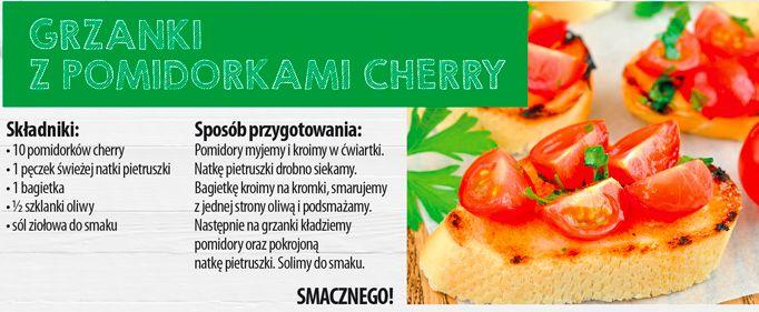 Grzanki z pomidorkami cherry