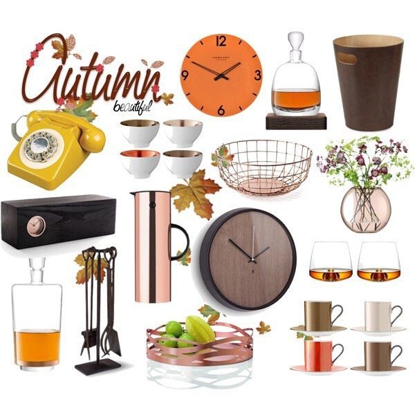 Colour Me Autumn: 'Autumn...the year's last, loveliest smile.'  #fall #autumnleaves #autumncolours #autumn #autumnal #interiors #interiordesign #home #homedecor #homedesign #homeinteriors #polyvore