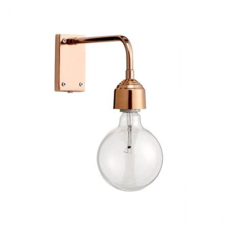 "I don't know if anyone will agree with my calling a light fixture ""adorable,"" but this is. Adorable. There are so many eras and design throwbacks in this (industrial, victorian, modern), put together effortlessly and subtly. Copper Wall Lamp - New In"