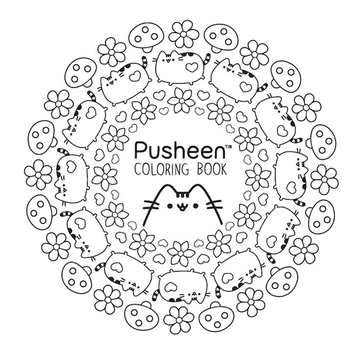 Pusheen Coloring Nurie Kawaii Coloring Pusheen