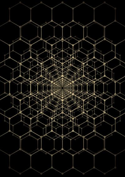 Research on Molecular Design: Repetition of the hexagon shape which is created through the molecular structure.