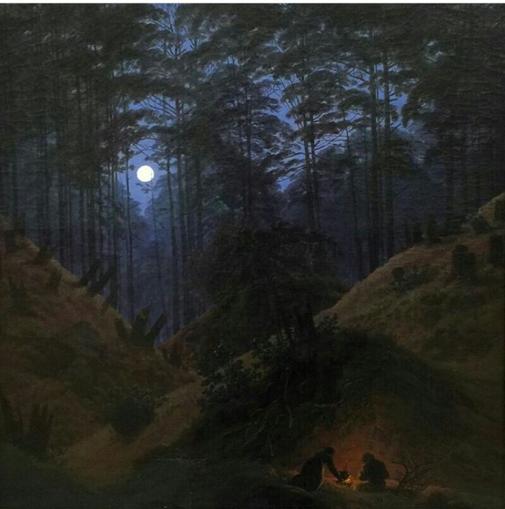 caspar david friedrich forest