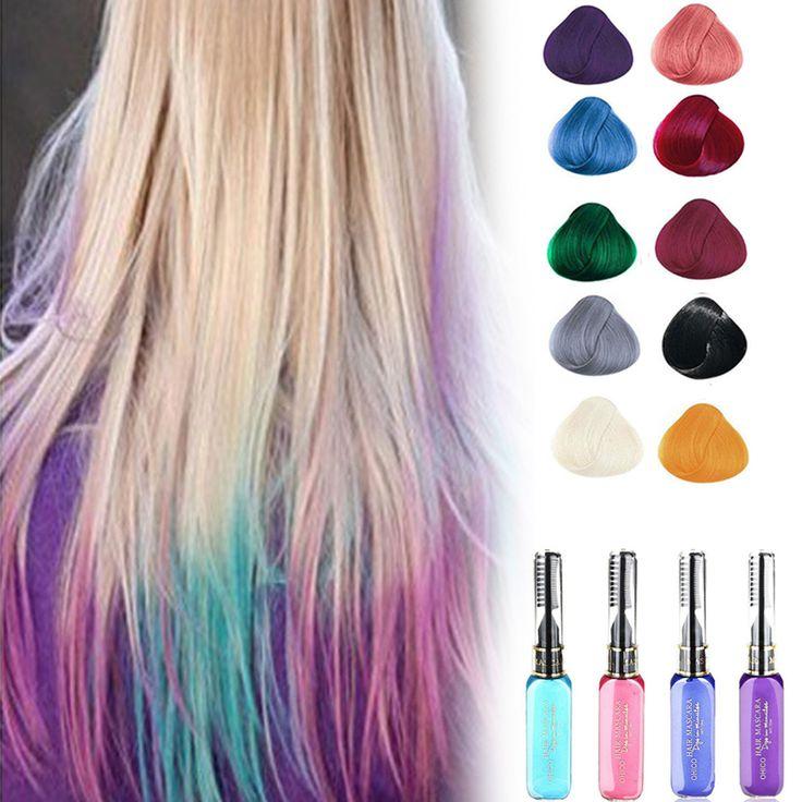 1 st haarkleur Dye make Gemakkelijk Tijdelijke haarkleur met kam niet-giftig DIY Haar Mascara Crème Mutlicolor A4