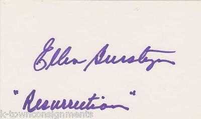 ELLEN BURSTYN EXORCIST & RESURRECTION MOVIE ACTRESS AUTOGRAPH SIGNED CARD