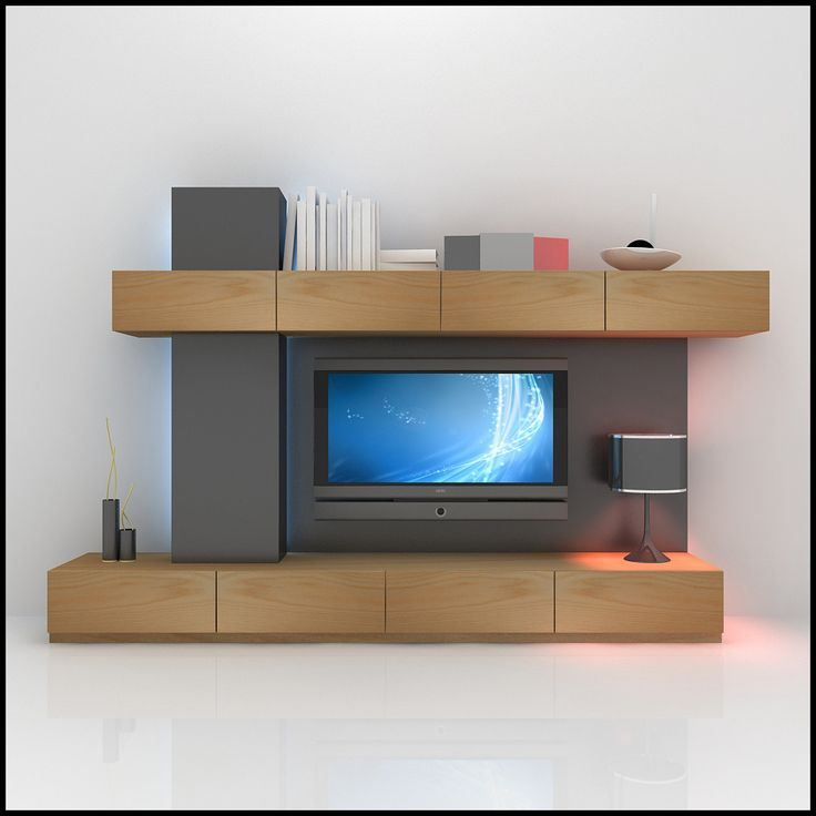 3d modern tv wall unit