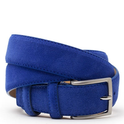 Suede riem: Coral Blue by ColorMeSocks™