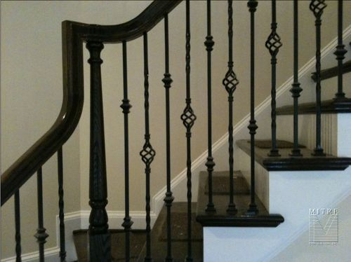 wrought iron baluster design | Wrought Iron Balustrade Closeup of balusters