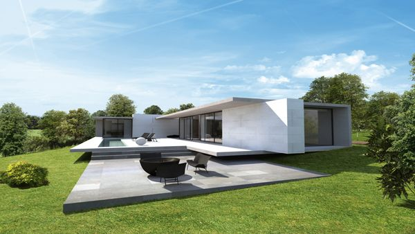 Une maison design de plain-pied située en pleine nature. Plus de photos sur Côté Maison http://petitlien.fr/7ski