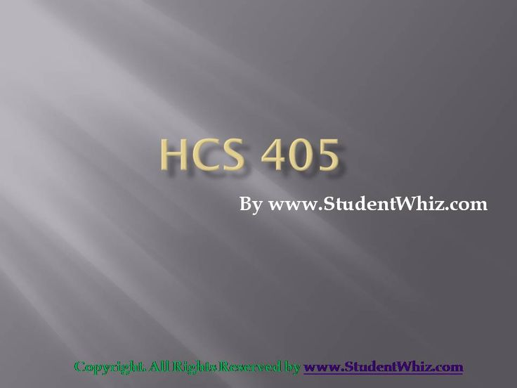 The theme of HCS 405 is to enable students to learn about the financial statements and other financial transactions in the hospital industry. There are various topics in HCS 405 like balance...