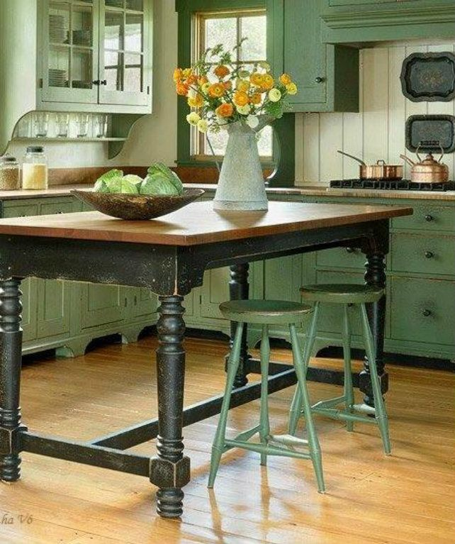17 Best Ideas About Kitchen Island Table On Pinterest: 17 Best Ideas About Green Country Kitchen On Pinterest