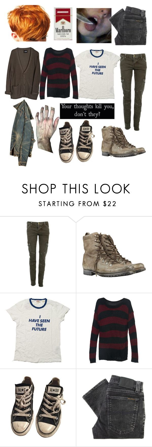 """""""Young angsty fem! Freddy"""" by ghouliette ❤ liked on Polyvore featuring CARGO, AllSaints, Cheap Monday, Levi's, Converse and Nudie Jeans Co."""